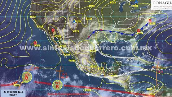 Se prevén fuertes lluvias y altas temperaturas para Guerrero