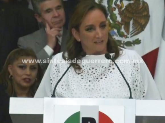 Ratifican a Claudia Ruiz Massieu como presidenta del PRI hasta 2019