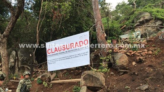 PROFEPA clausura actividades de cambio de uso de suelo en terrenos forestales en Acapulco, Guerrero
