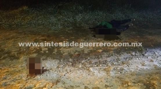 Asesinan a un hombre en Chilapa y otro en Hueycantenango