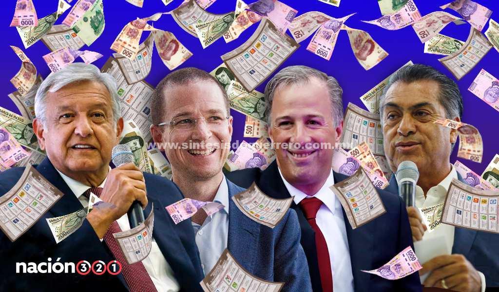 ¿Cuánto costó cada voto que recibieron AMLO, Anaya, Meade y el 'Bronco'?