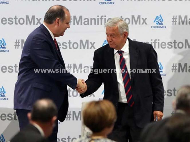 Retomarán Coparmex y López Obrador diálogos sobre salario mínimo