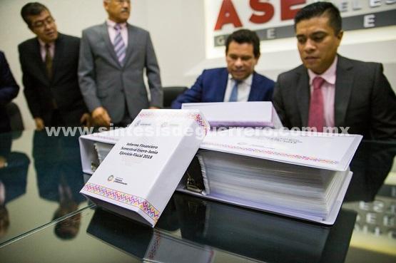 En tiempo y en forma, entrega gobierno de Guerrero informe financiero correspondiente al ejercicio fiscal Enero-Junio del 2018