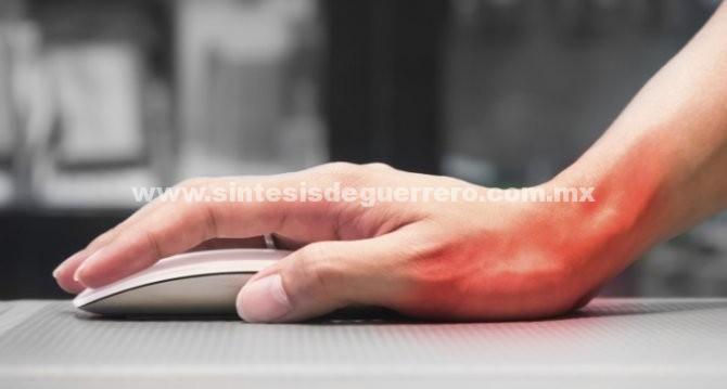 Síndrome del túnel carpiano provoca inflamación de mano y brazo