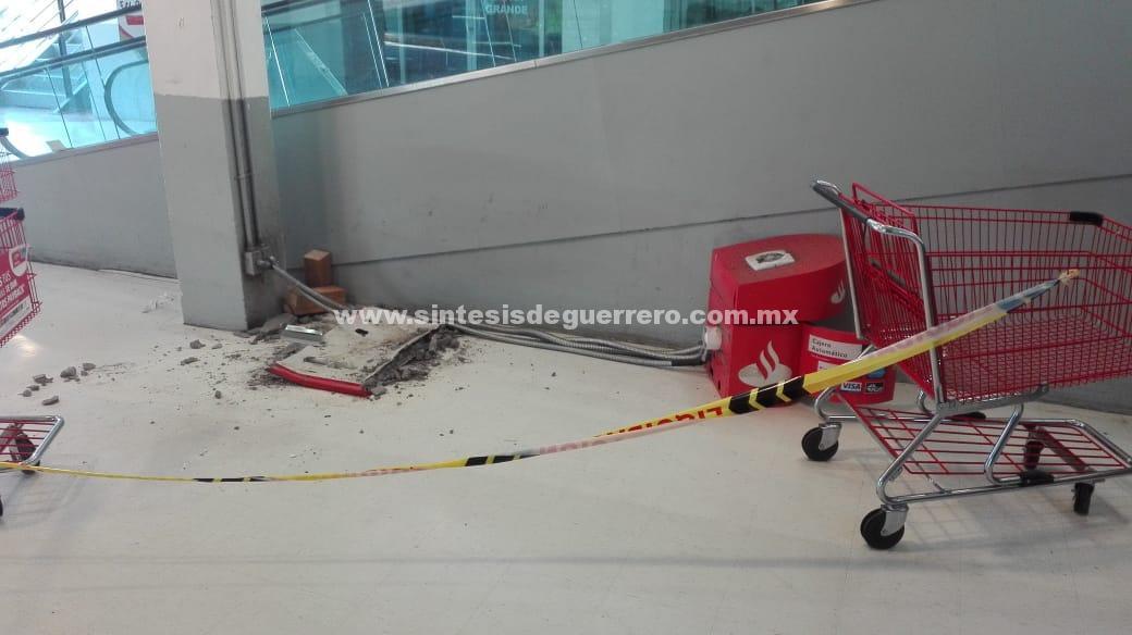 Acapulco: roban un millón 300 mil pesos de un cajero, al interior de tienda departamental