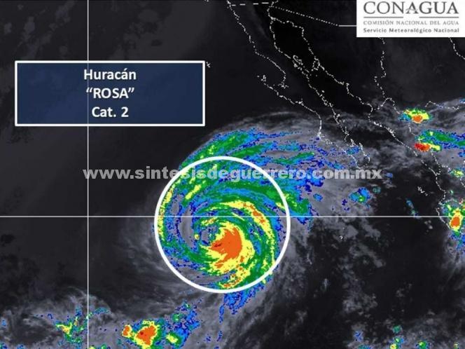 Huracán 'Rosa' baja a categoría 2