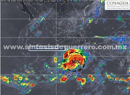 Onda tropical cruzará el sureste mexicano, zona de inestabilidad