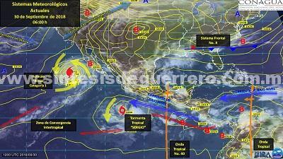 Remanentes de la tormenta «Sergio» generará lluvias fuertes en Guerrero: Protección Civil Estatal