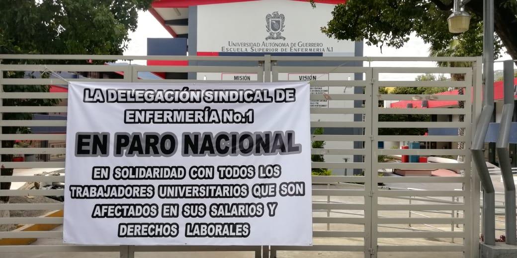 Para labores la Universidad Autónoma de Guerrero, en solidaridad con universidades en quiebra