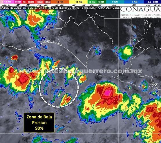 Lluvias fuertes, nublados y altas temperaturas para Guerrero, prevé Protección Civil Estatal