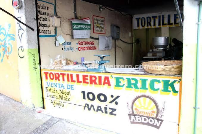 Crimen organizado suspendió en Iguala el servicio de repartición de tortillas