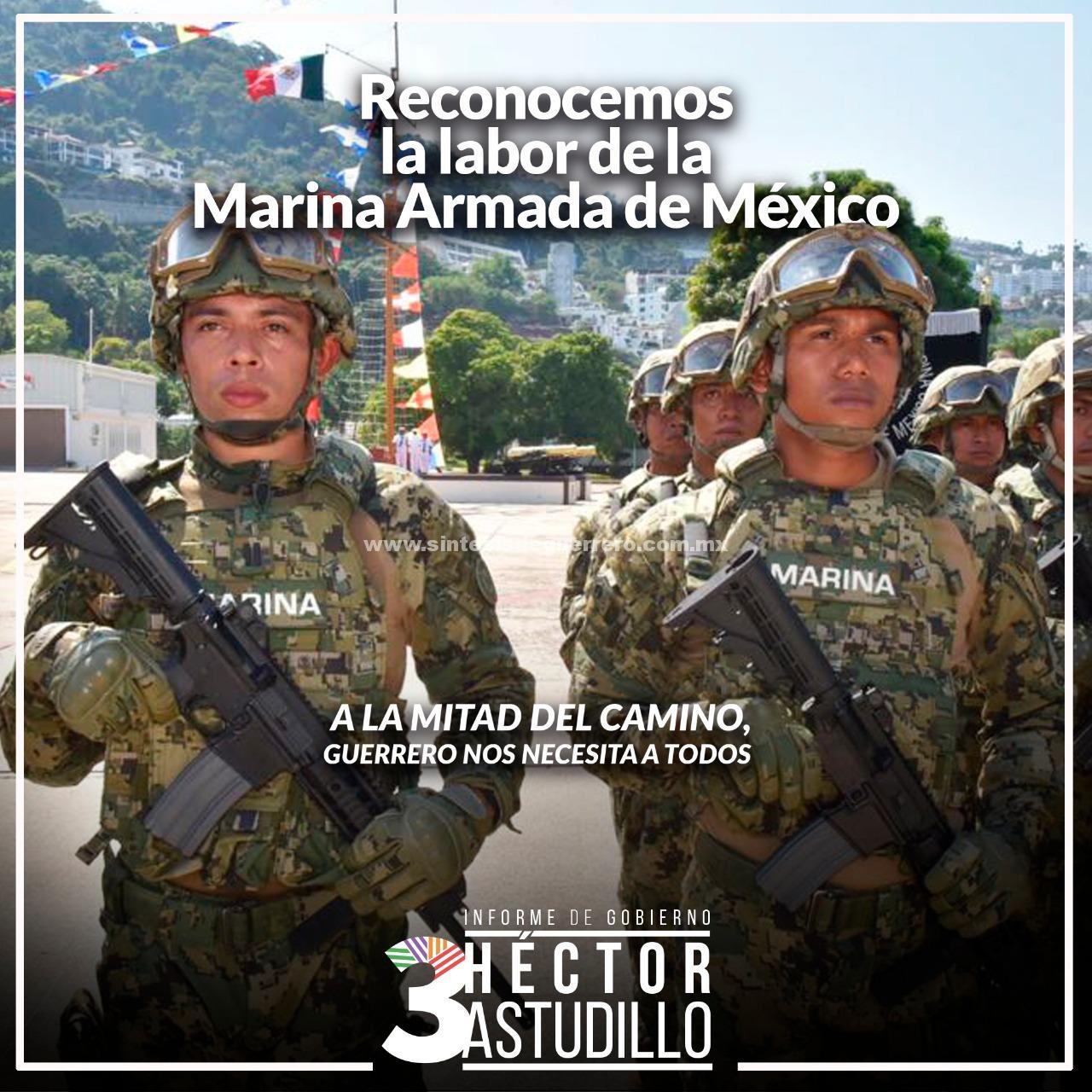 Reconocemos la labor de la Marina Armada de México