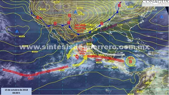 Más lluvias para Guerrero por entrada de humedad del Océano Pacífico: Protección Civil Estatal