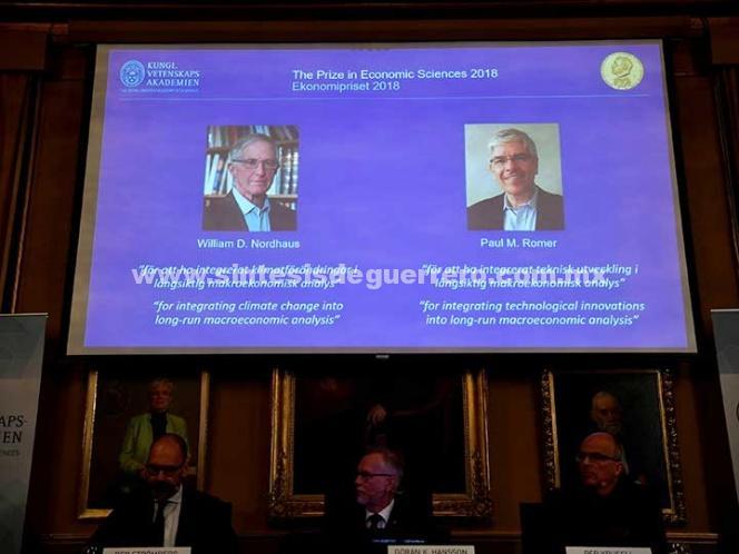 William Nordhaus y Paul Romer, de EU, ganan Nobel de Economía
