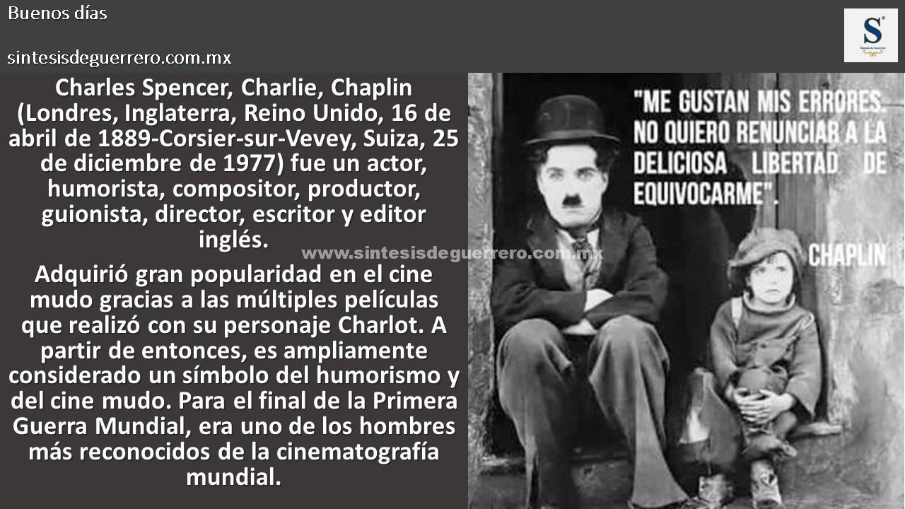 Buenos días. Chaplin
