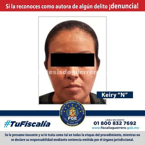 PGR y FGE en coordinación logran detención de Keiry, presunta pareja del líder de Los Tequileros