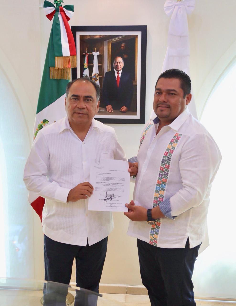 Héctor Astudillo Flores, tomó protesta a Jesús Antonio Ortiz Sotelo