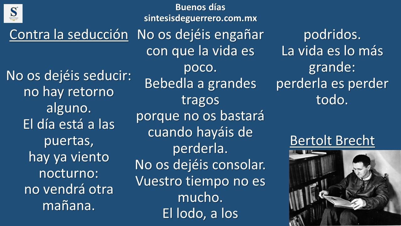 Buenos días. Bertolt Brecht