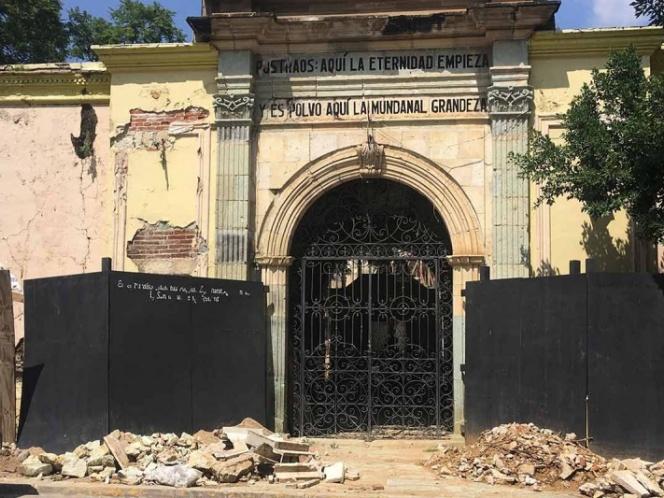 Panteones de Oaxaca entre ruinas a más de un año del S19