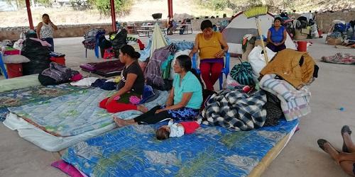 Invisibilizados, sobreviven indígenas desplazados de Tlaltempanapa en Copalillo, Guerrero