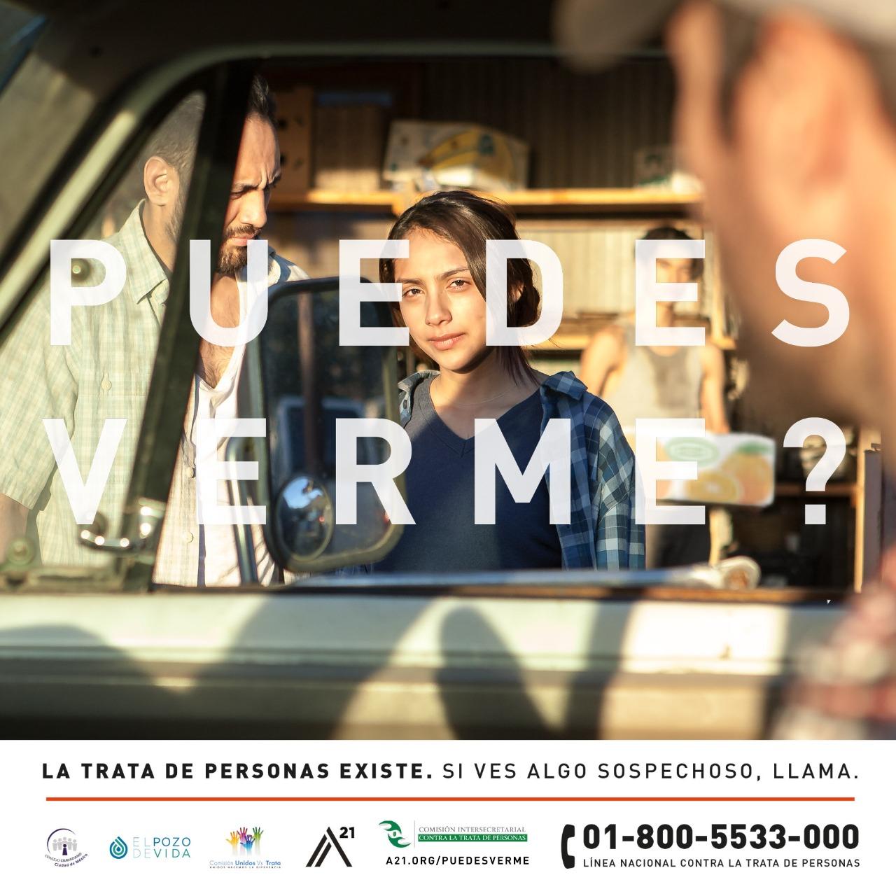 La trata de personas existe. #PuedesVerme