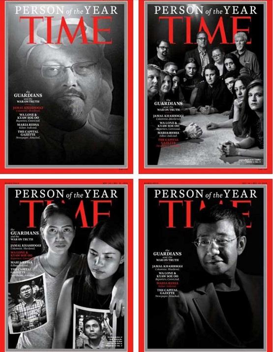 Time nombra 'persona del año' a Khashoggi y otros periodistas