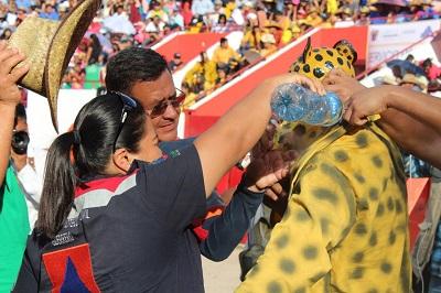 SPCGRO Reporta saldo blanco durante el desarrollo del Paseo del Pendón de Chilpancingo; En total de ofrecieron once asistencias médicas