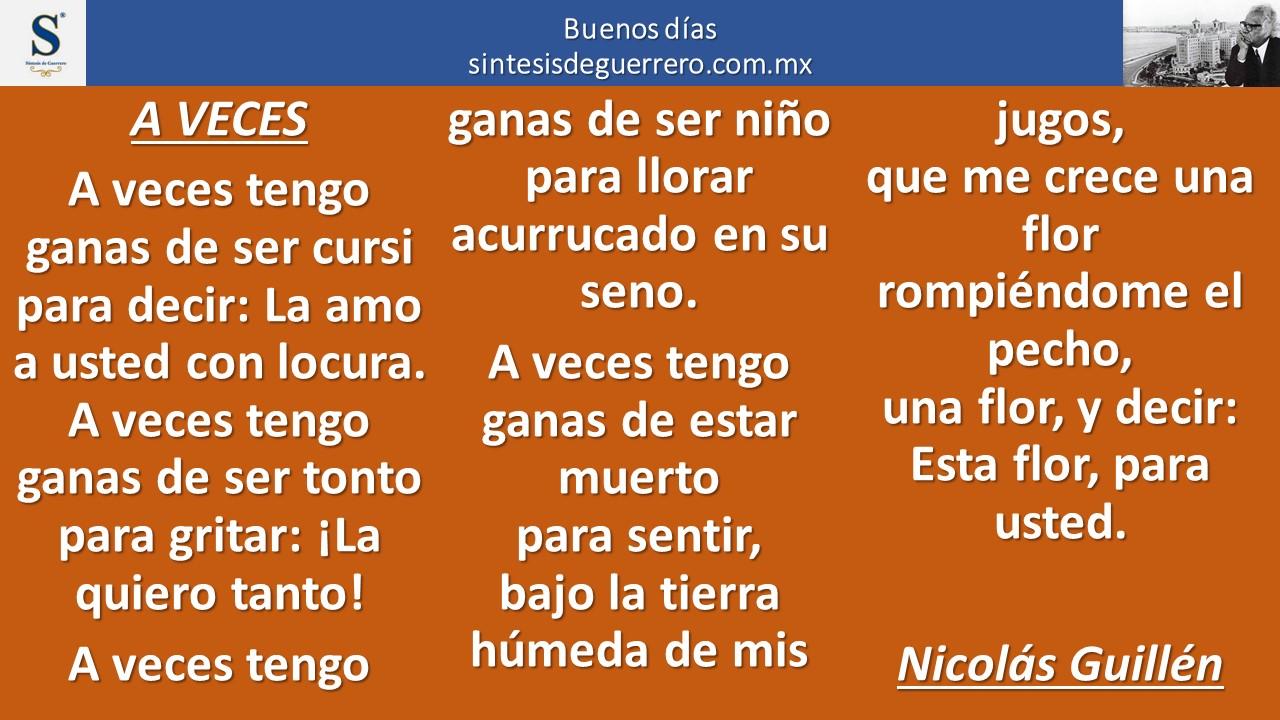 Buenos días. Nicolás Guillén