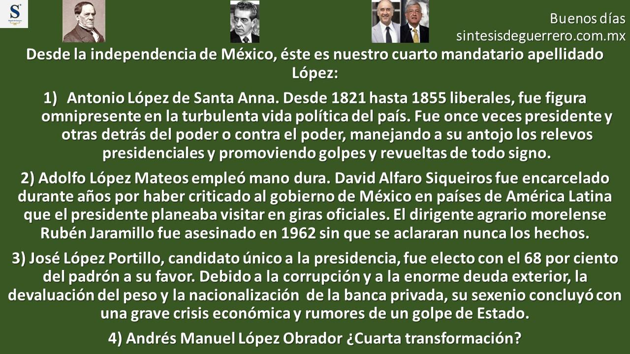 Buenos días. Los López en la historia de México