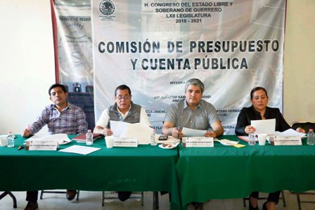 Se instala en sesión permanente comisión de presupuesto del Congreso de Guerrero