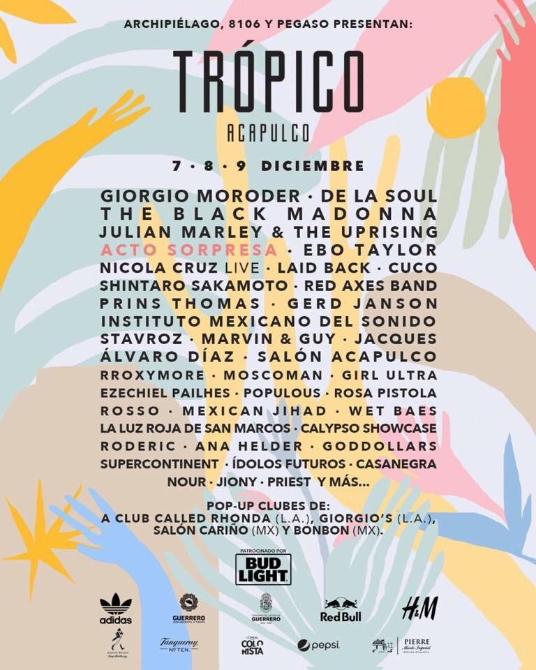 Tres días de fiesta  en Acapulco, durante la sexta edición del festival Trópico 2018.
