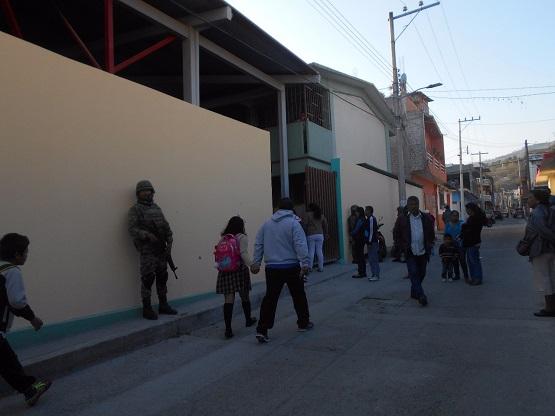 Sin seguridad, solo una escuela reinició clases este lunes en Chilapa