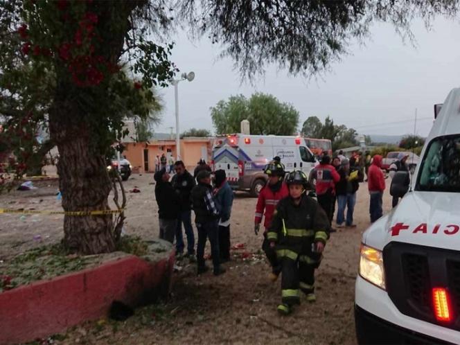 Suman 5 muertos por explosión de pirotecnia en Tequisquiapan