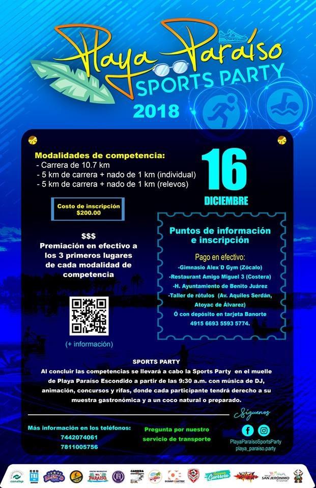 Atractiva agenda deportiva para el fin de semana en la franja costera de Guerrero.