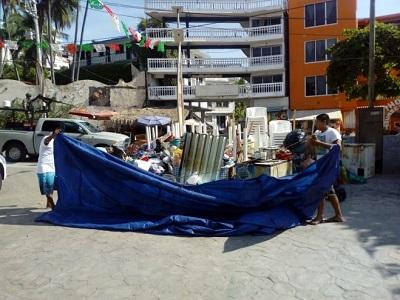 Realiza PROFEPA segundo desalojo de ocupante irregular en playa La Angosta, en Acapulco