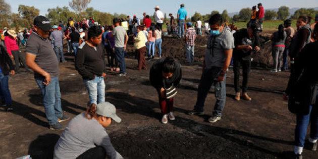 Suman ya 85 fallecidos en Tlahuelilpan