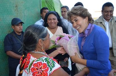 Seguiremos trabajando en favor de la población vulnerable: Mercedes Calvo