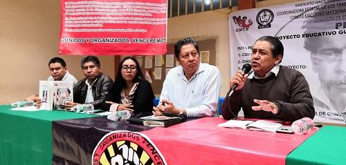 Presentará CNTE al Gobierno Federal proyecto alterno a la Reforma Educativa