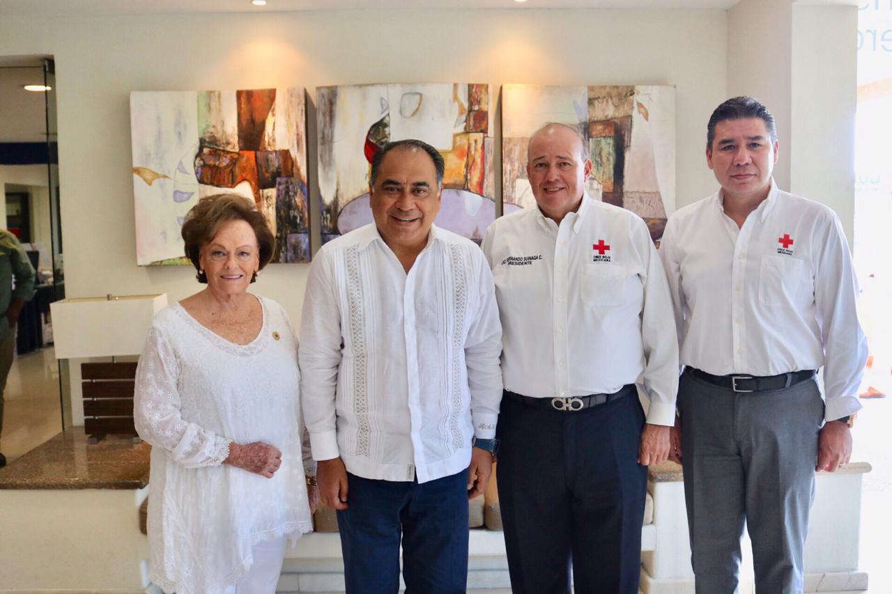 Reconoce la Cruz Roja al gobernador por su solidaridad y apoyo en momentos de desastres