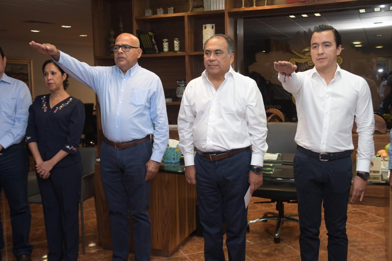 Nombra Astudillo a Humberto Díaz como secretario particular y a Pedro Ocampo como secretario privado