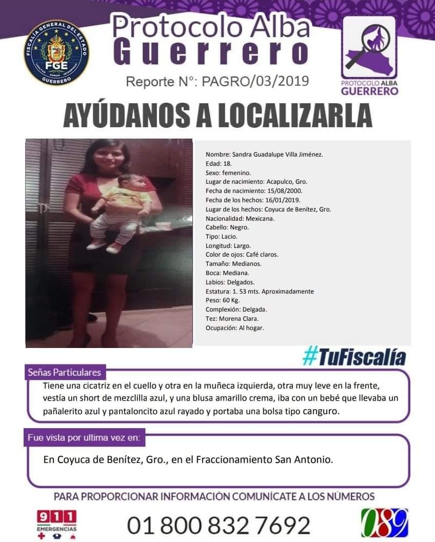 Activa Fiscalía alerta Alba por desaparición de dos mujeres