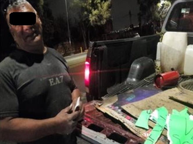 Detienen a hombre por vender gasolina en la alcaldía de Tlalpan