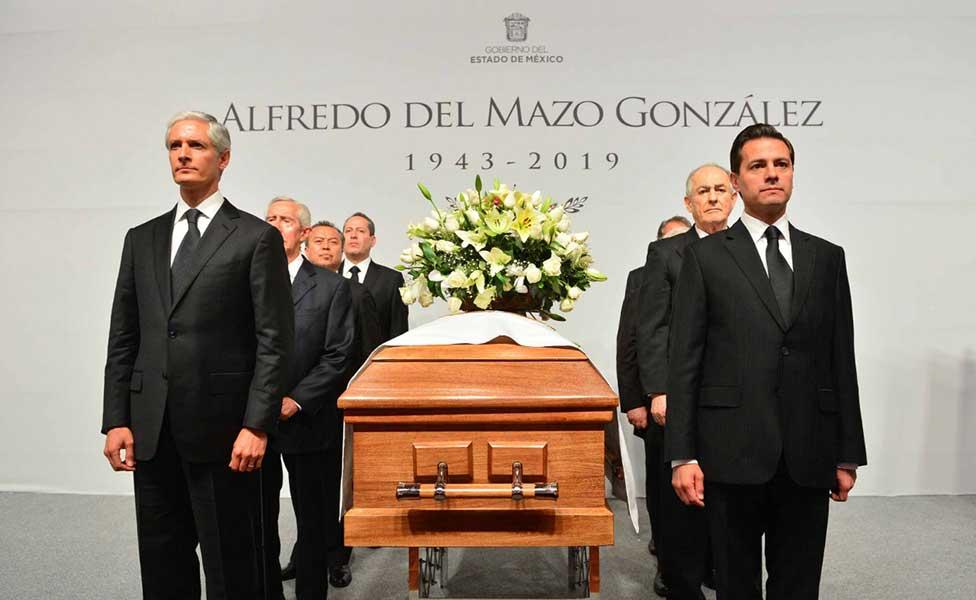 Dan último adiós a Alfredo del Mazo González