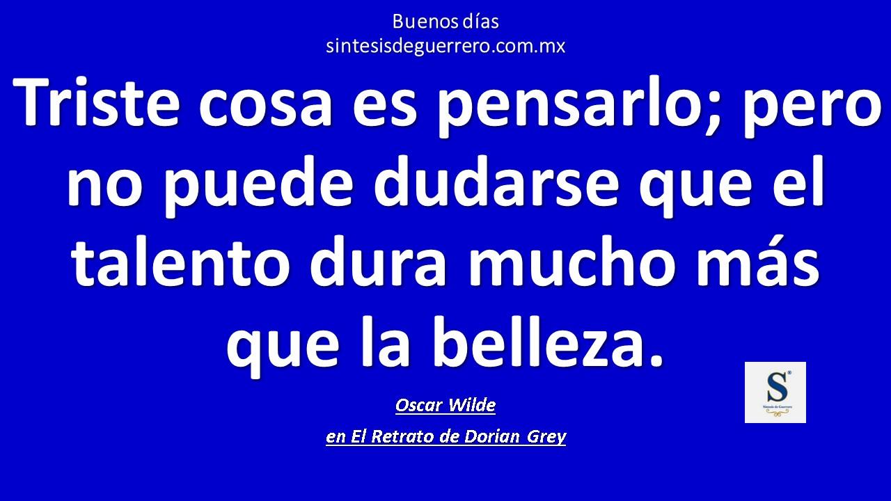 Buenos días. Una de Oscar Wilde