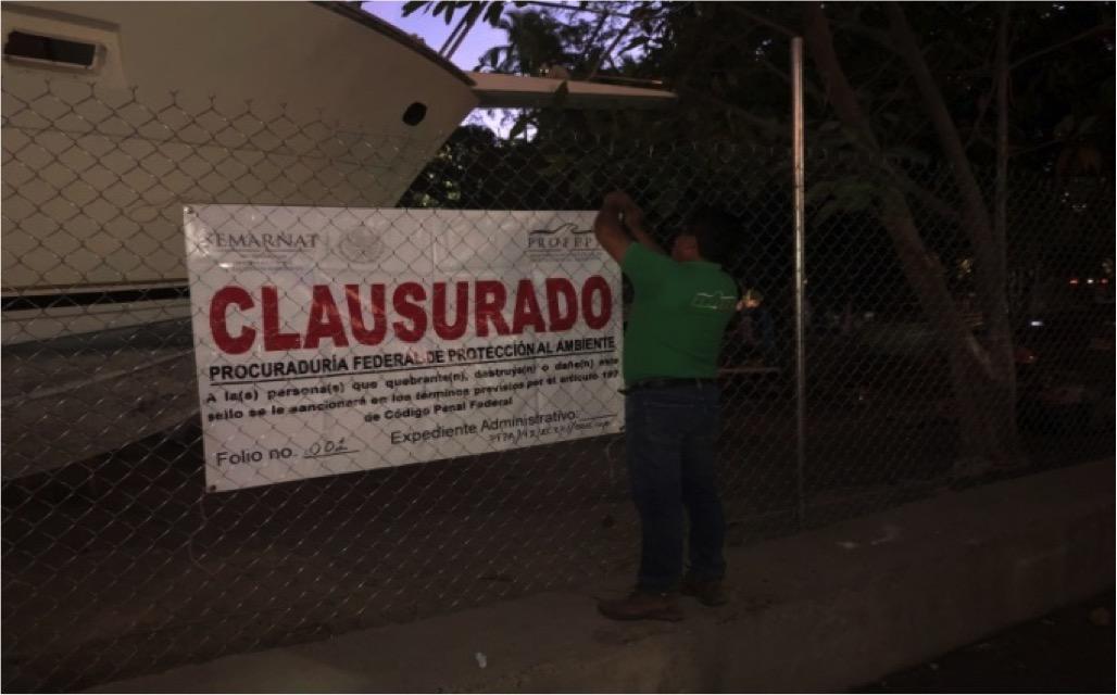 Repone PROFEPA sellos de clausura durante visita de inspección en playa Manzanillo, Guerrero