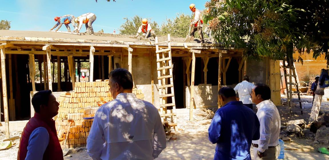 Apoyan minas reconstrucción de Tepecoacuilco tras terremoto.