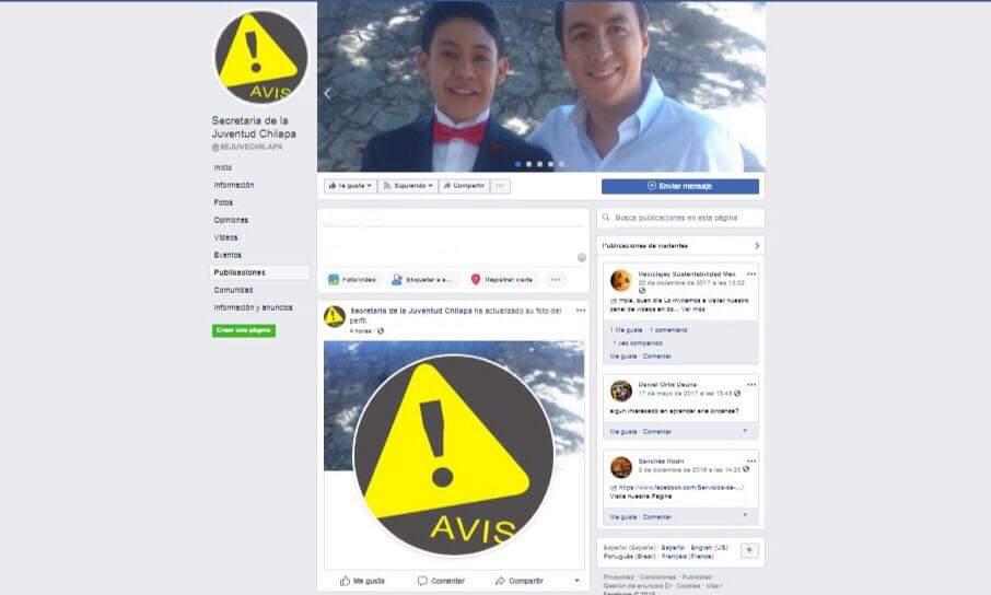 Eliminan historial de fotos de Secretario asesinado, de la página oficial Sejuve-Chilapa