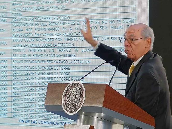 Revela SCT audios sobre caída de helicóptero en Puebla