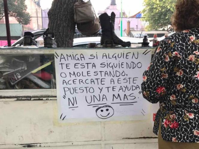 Amiga ¿Sufres acoso? Ambulantes ofrecen ayuda a mujeres