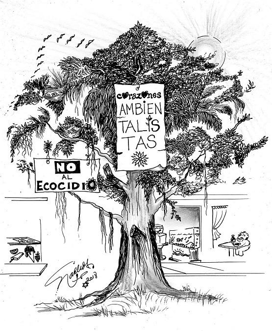 El Cartón de Nacho´s: NO AL ECOCIDIO